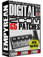 ZOOM G5 Patches Guitar Effects Pedal Tone Presets Amp Settings Win Mac