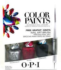 Opi Nail Lacquer Color Paints 3 Color Set 0.5 oz Each