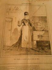 Caricature 1877 - Expérience Deux liquides à combiner pour en faire un solide