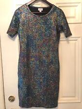 ❤️NEW LuLaRoe JULIA ELEGANT MERMAID SHIMMER OIL SLICK DRESS ~ SMALL ~ HOLIDAYS❤️