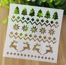AU Stock X'mas Deers Elk Layering Stencil Template Scrapbooking DIY Craft Decor