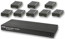 HDMI sobre CAT5 1:8 Divisor + RXS-Av sobre Cat 5-Audio Visual