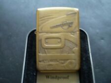 """ZIPPO/ A MEGA RARE VINTAGE SOLID BRASS HARLEY DAVIDSON """" ENGINE """" FROM 1996 NEW"""