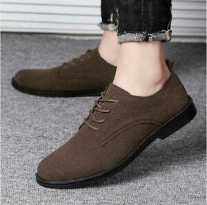 Men's Classic Casual Shoes Moccasins Slip On Loafers Business Lace Up Oversize