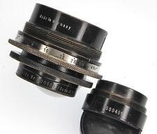 Hugo-Meyer Plasmat 3.5in f4.5  & 4.75in f8 Convertible Barrel Lens   #500401