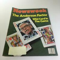 Newsweek Magazine: June 9 1980 - The Anderson Factor Wild Card in Game