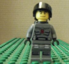 LEGO MINI–SPACE-SPACE POLICE III-OFFICER 4, BLACK AIRTANKS – VERY GENT USED