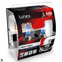Lunex H9 Halogen Birnen Night Vision 3600K 12V 65W 709 Weiß Premium Set