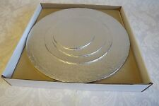 W11 - Wedding / Tiered Cake Box & Round BOARD Set for 4 Tier Stacked Cake