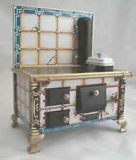 Cracked Tile Kitchen Stove dollhouse miniature JS118963 metal 1/12 scale Germany