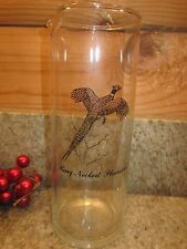 Vintage Ring Necked Pheasant Martini Pitcher Federal Glass