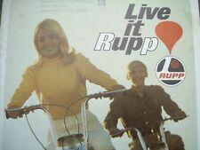 1969 Vintage RUPP MINI BIKE Snowmobile Motorcycle Brochure