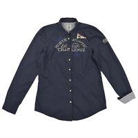 GAASTRA Damen Bluse XL 42 NAUTICAL SUPPLIES blau Langarm Women shirt Oberteil
