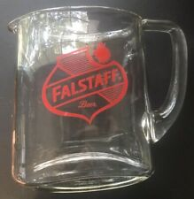 Falstaff Beer Vintage Heavy Glass Pitcher - 64oz - Get your Shakespearean Vibe