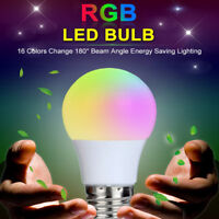3W E27 LED 16 Color Changing RGB SD Light Bulb Lamp&Remote Control Home office
