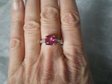 Mystic Pink Topaz ring, 2.64 carats, size P/Q, 2.94 grams of 925 Sterling Silver