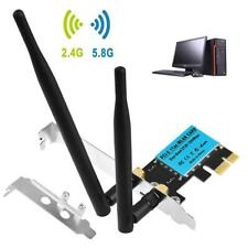 1200Mbps PCI-E WiFi Card 2 4G 5G Dual Band Network Adapter For Desktop Wireless