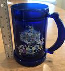 Disneyland 50th Anniversary Sapphire Blue Plastic Tankard - RARE 2005 Souvenir