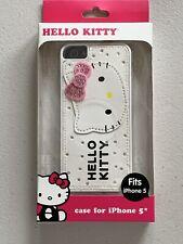 HELLO KITTY SANRIO APPLE IPHONE 5 5S  WHITE PINK BLING HARDSHELL CASE