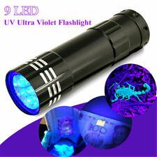 UV Ultra Violet LED Flashlight Blacklight Light 395/365 Inspection Lamp-torch