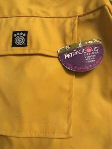 Dog Raincoat Coat Jacket Petrageous Size XxL With Hood NWT