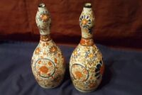 Pair of Japanese Antique Gourd Vases late 19th/ early 20th Century Meiji