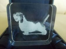 Petit Basset Griffon Vendeen Dog Glass Paperweight, Nib, Laser Image, Rare Breed