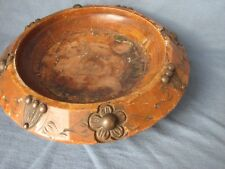 Old carved wooden bowl. Wood