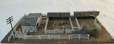 HO Scale Diorama of Barn Yard - wood - built-up - cattle