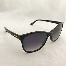 Authentic Guess Women's GU7426-01B Black Cat Eye Shiny Gradient Sunglasses 58-17