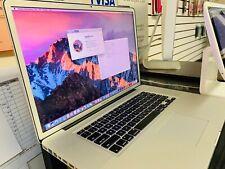 "Apple MacBook Pro A1297 17"" Laptop Quad-Core 2.5 i7 - 1TB SSHD - 16 GB RAM, 2011"