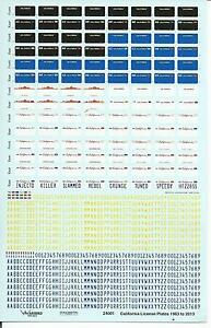 Warbird California Plaque Immatriculation Décalques 1/24, 1/25 1963-2012 24