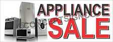 3'x8' APPLIANCE SALE BANNER Signs LARGE Dishwasher Washer Dryer Stove Range Oven