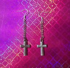 Pendiente de plata Cruces Cruz único para hombre Caballeros goth gothic regalo Mans