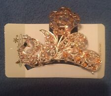 Hair Comb/Tie With Gem Rhinestones Of Different Colors