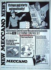 1971 MECCANO Advert Electronic Motorised Models Control Set - Vintage Print Ad