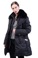 GEOSPIRIT Down Puffer Jacket Size 50 / 3XL Fox Fur Trim Made in Italy RRP €465