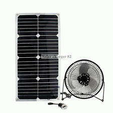 solar 24w SB Cooling fan powered 6 inch waterproof for sommer home office