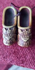 CHINESE VINTAGE HAND CARVED MINIATURE SHOES. Immaculate condition.