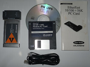 Linksys EtherFast Laptop 10/100 + 56K Modem PC Card - Software - Manual - Cables