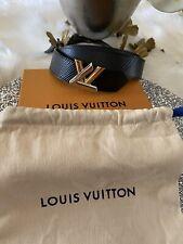 NWT Authentic Louis Vuitton Belt Twist Epi Black 90/36 M9360