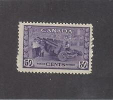 CANADA (MK3304) # 261  VF-MNH  50cts  1942 / MUNITIONS FACTORY /VIOLET  CAT $75