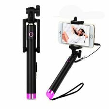portable Extendable Handheld Self-portrait Monopod  Wired Selfie stick