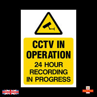 CCTV Security Camera 24 Hour Sticker All Size A4 A5 A6 A7 Self Adhesive Stickers