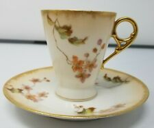 CH Field Haviland Limoges GDM - Hand Decorated Cup & Saucer