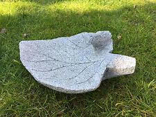 Vogeltränke Vogelbad Stein Granit Granitfigur Deko Wasserbad Naturstein Unikat