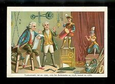 Vaucanson & His 18th Century Automated Inventions-1880s Victorian Trade Card