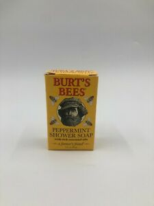 Burts Bees Peppermint Shower Soap 3.5 Oz Full Size Vtg Rare Bs57