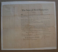 Samuel Wilson 1801 Military Commission Signed John Gilman NH State Seal Document