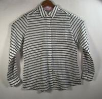 Foxcroft Women's Size 8 Blouse Tunic Button Down Shirt Long Sleeve